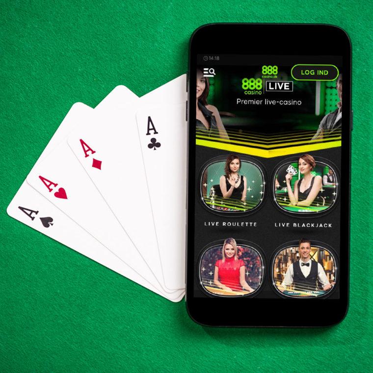 Live casino på mobilen