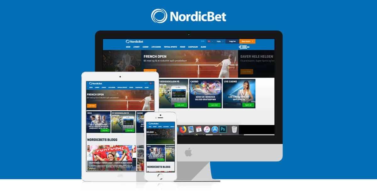 NordicBet casino på computer, tablet og mobil